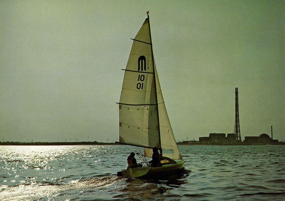Segelboot auf der Elbe
