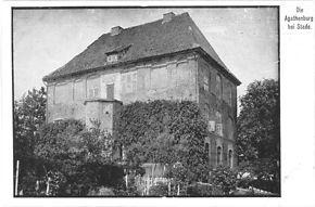 Schloss Agathenburg auf einer Postkarte von 1911