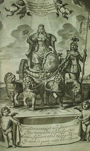 Die Jungfrau mit den drei Rosen ist Teil des Königsmarck'schen Wappens. Ihre Geschichte erzählt das Schlossmuseum.